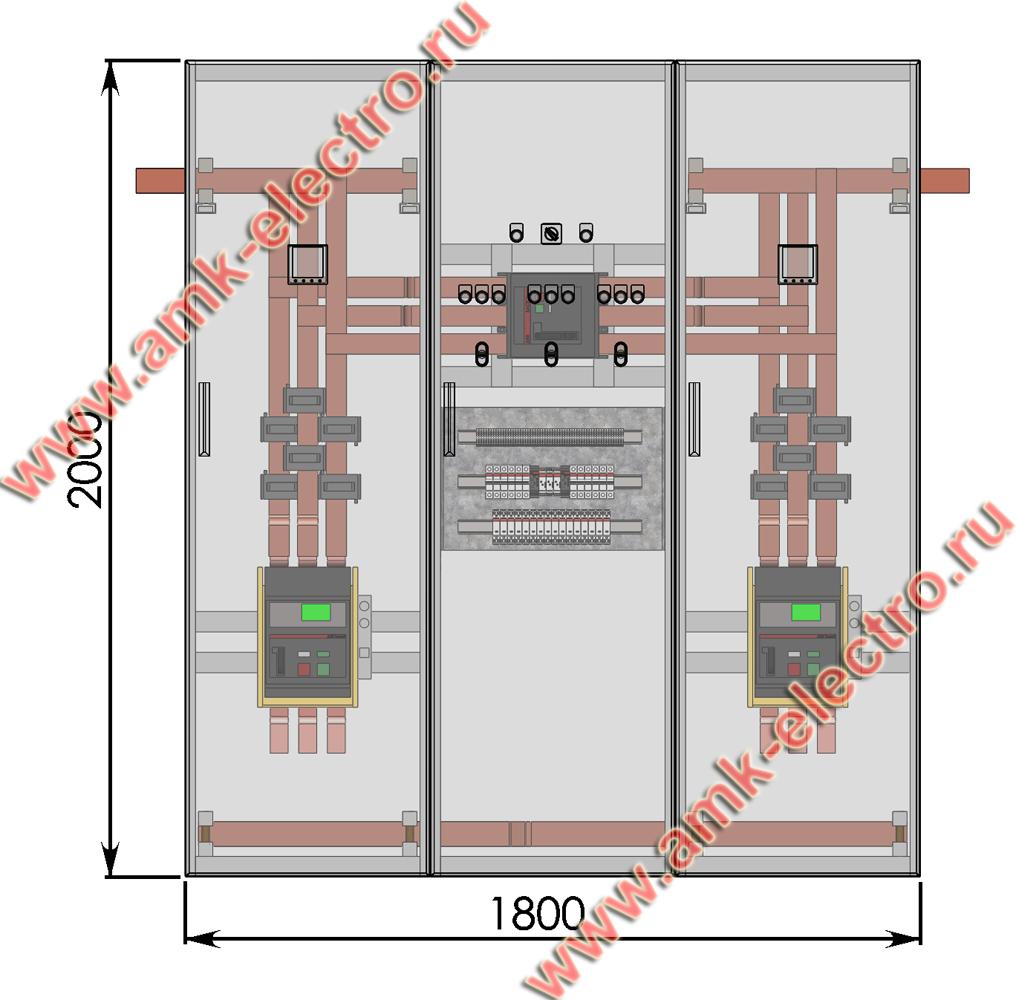 Щит АВР автоматический ввод резерва включение резерва